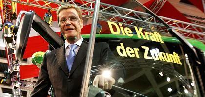 FDP-Chef Westerwelle auf der Grünen Woche in Berlin: Selbstbewusst