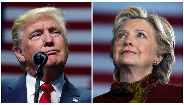 Rivalen Trump und Clinton (Oktober 2016)