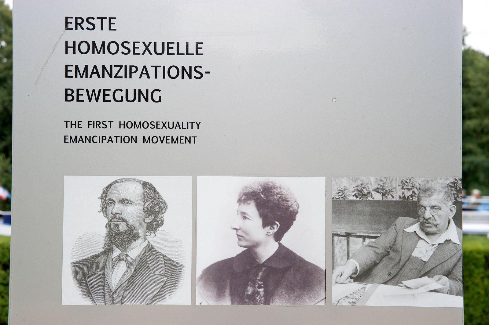 In Berlin erinnert seit Donnerstag 07 09 2017 ein Denkmal an den Begruender der ersten homosexuell