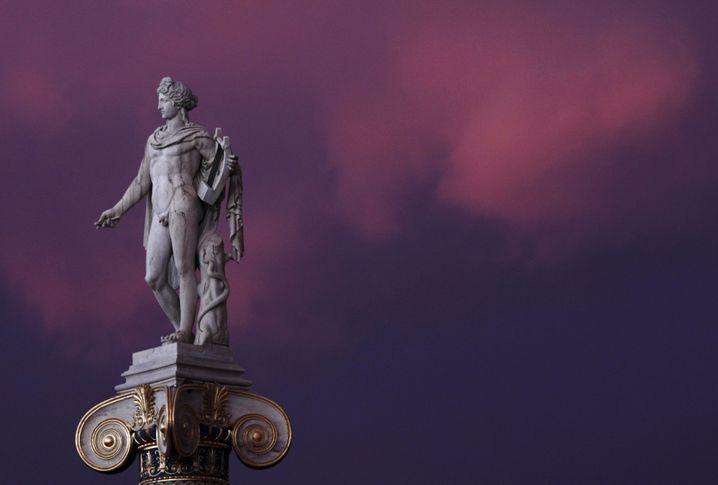 Marmorstatue des antiken Gottes Apollo: Ändern Sie Ihr Leben!