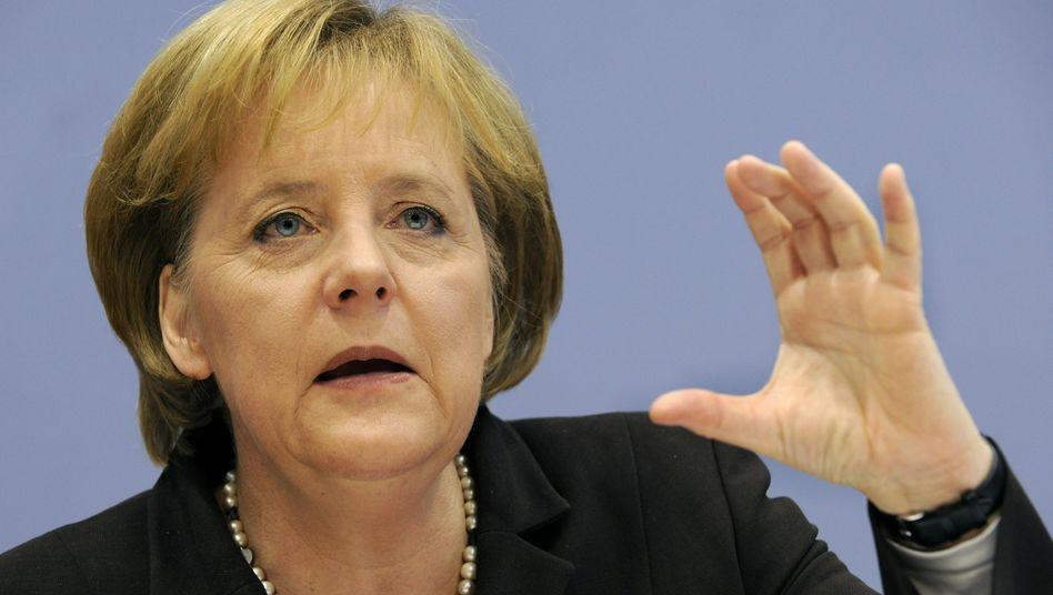Kanzlerin Angela Merkel: Voraussetzungen für Finanzhilfe noch nicht erfüllt