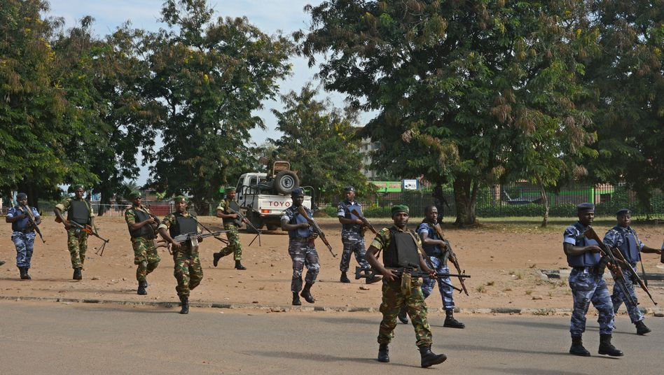 Burundische Sicherheitskräfte in der Hauptstadt Bujumbura