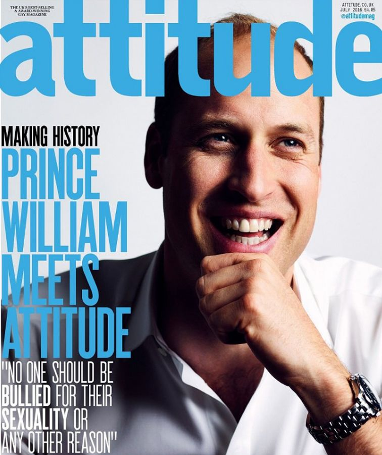 EINMALIGE VERWENDUNG Prince William / Attitude Magazine Cover