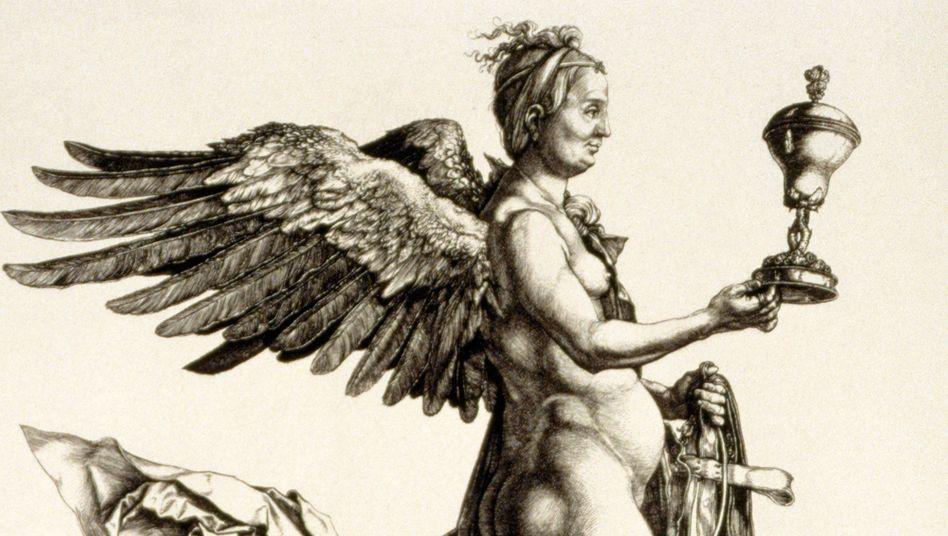 Nemesis-Darstellung von Albrecht Dürer