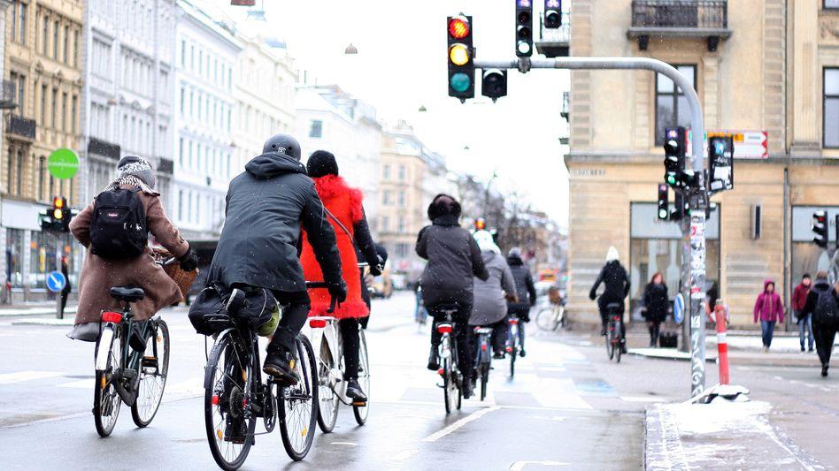 """Radfahrer in Kopenhagen: """"Dann bleibt die Ampel eben länger grün"""""""