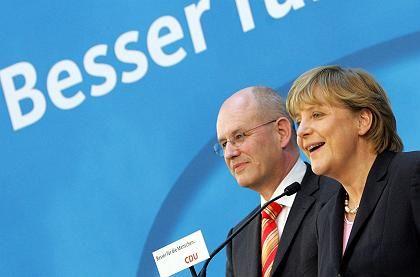 CDU-Generalsekretär Kauder, Merkel: Vorfreude auf das Kanzleramt