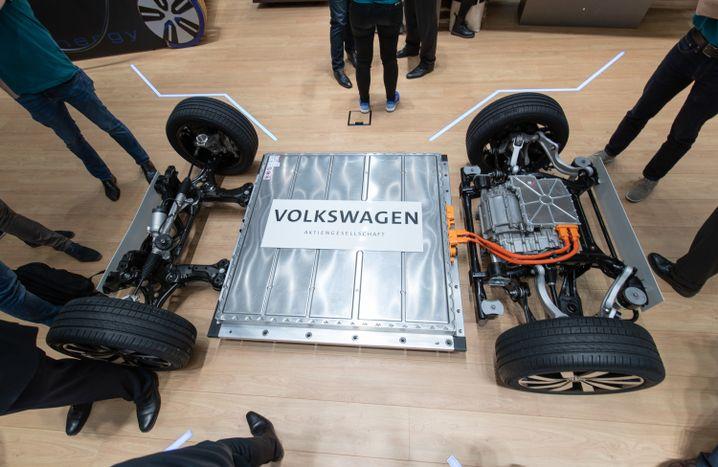Plattform eines Elektrofahrzeugs von Volkswagen