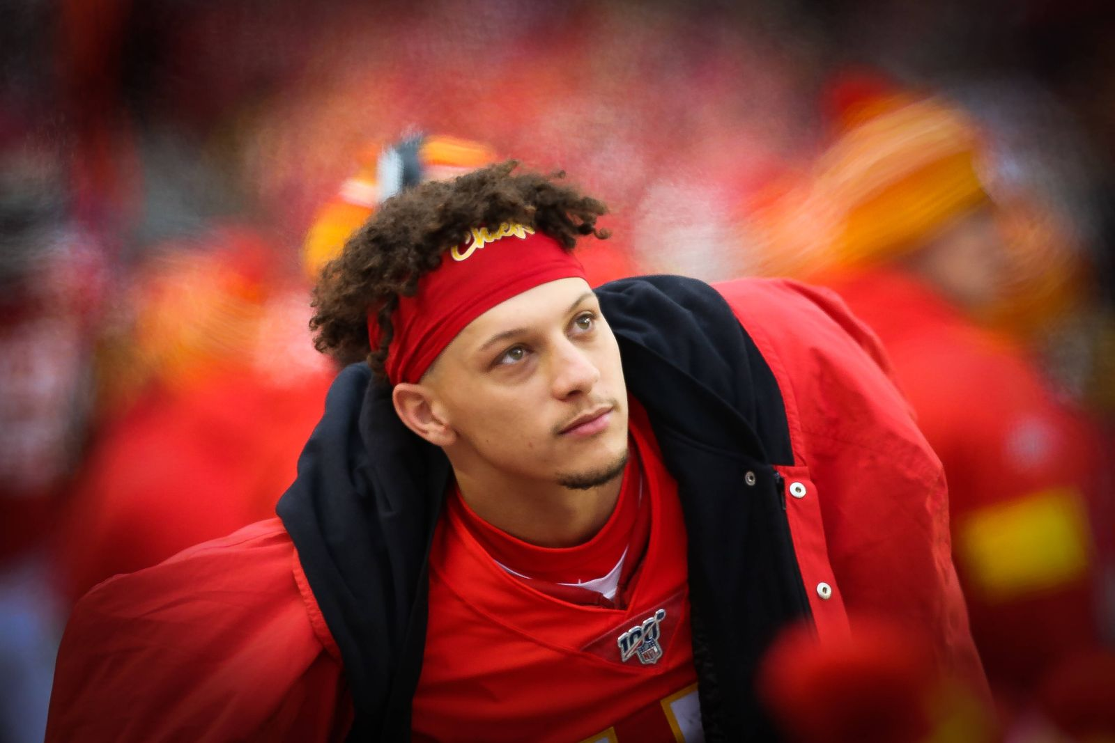 KANSAS CITY, MO - DECEMBER 29: Kansas City Chiefs quarterback Patrick Mahomes (15) on the sidelines during an AFC West