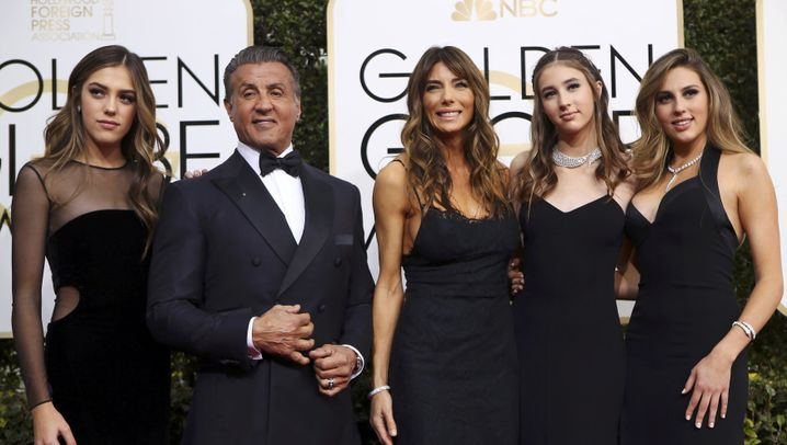 Sylvester Stallone: Ganz der stolze Papa