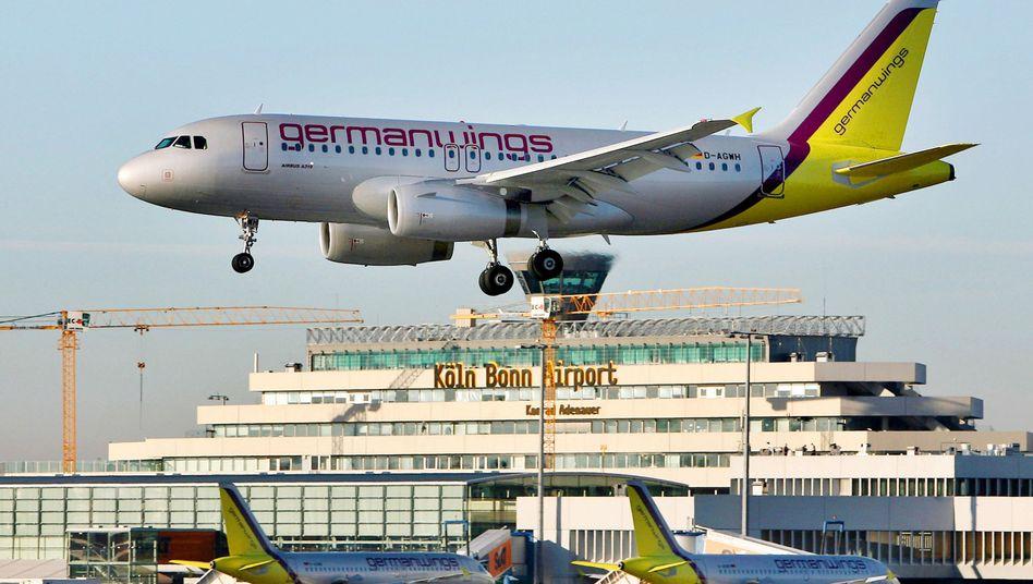 """Airbus von Germanwings am Flughafen Köln/Bonn: """"Ganz neues Erpressungspotenzial"""""""