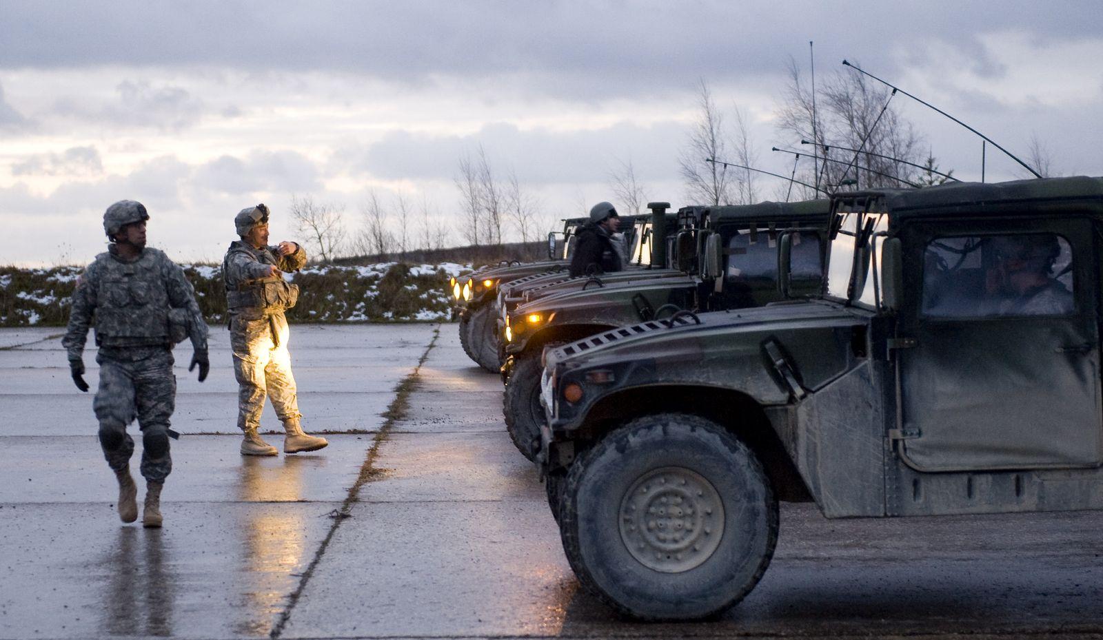 NICHT VERWENDEN US-Soldaten Grafenwöhr
