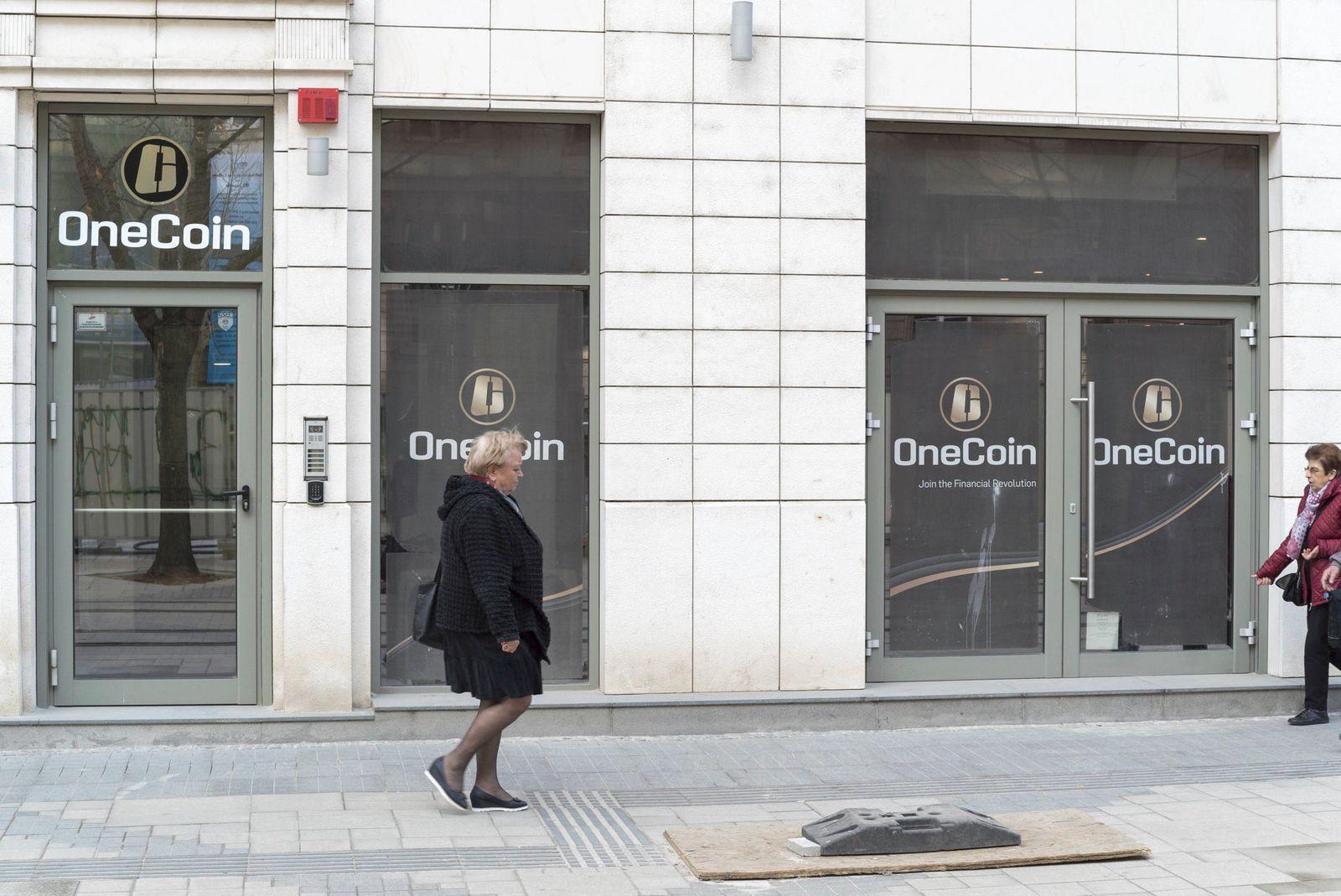 Onecoin Hauptsitz der unter Betrugsverdacht stehenden Kryptow‰hrungs Firma Onecoin in Sofia Headqu