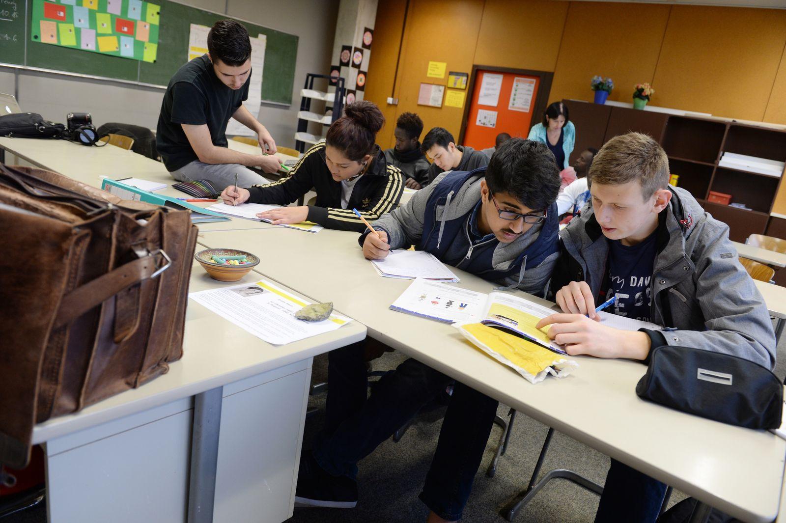 Schule / Flchtlinge / Migranten / Zuwanderer