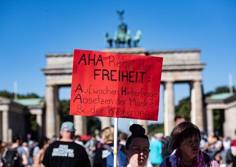 Corona-Demonstranten in Berlin