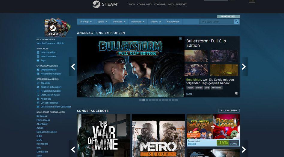 Valve-Plattform Steam