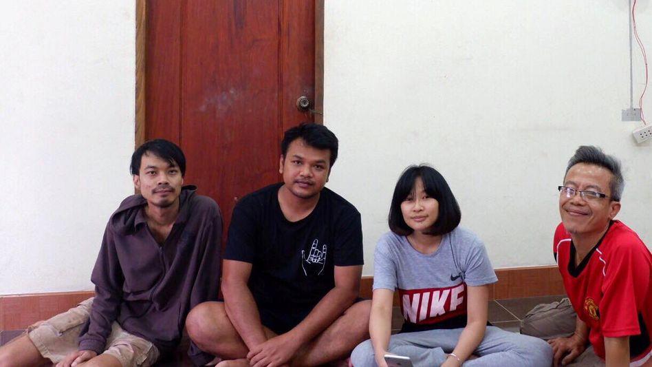 "Mitglieder der Band Faiyen: Nithiwat ""Jom"" Wannasiri, Worravut ""Tito"" Thueakchaiyaphum, Romcahalee ""Yammy"" Sombulrattanakul and Trairong ""Khunthong"" Sinseubpol"
