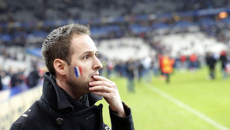 Französischer Fan im Stadion: Fußball ist nicht mehr wichtig