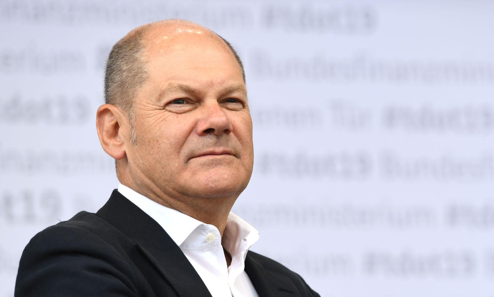 German Vice Chancellor and Finance Minister Olaf Scholz speaks at his ministry in Berlin