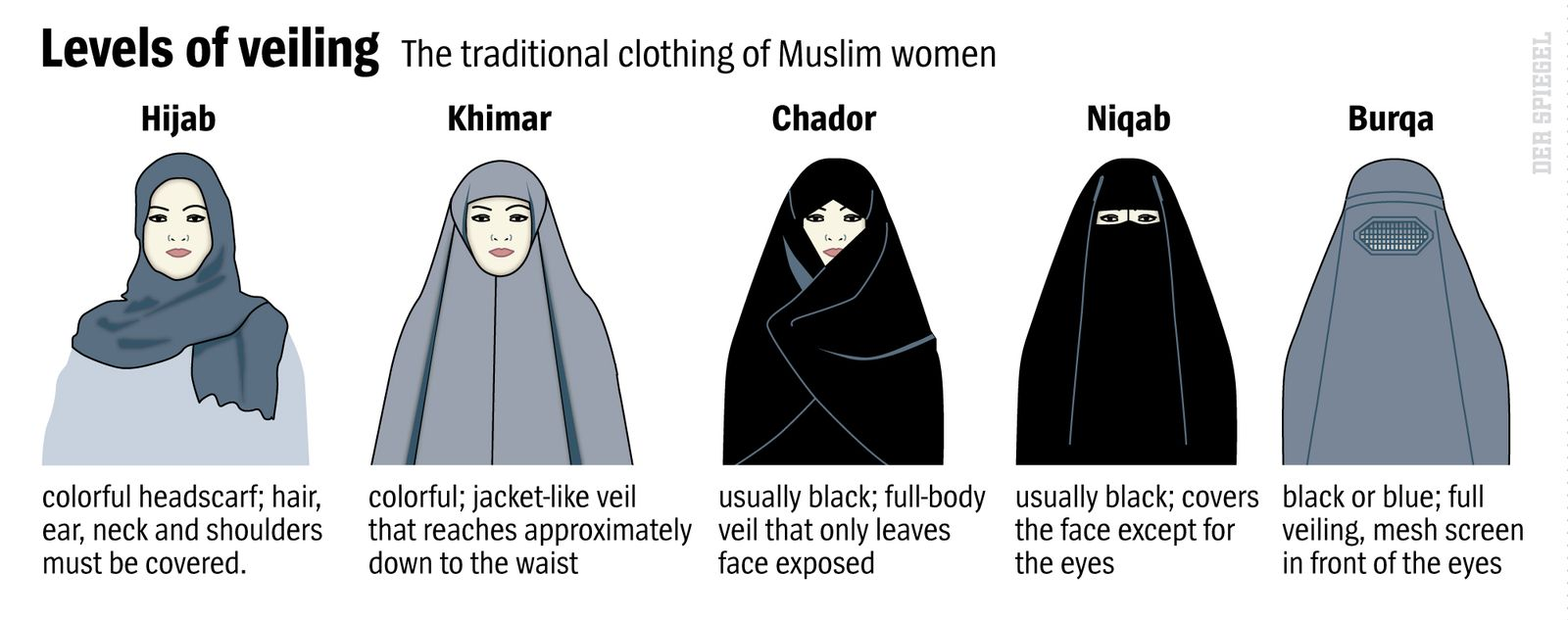 DER SPIEGEL 34/2016, Seite 31 Levels of veiling