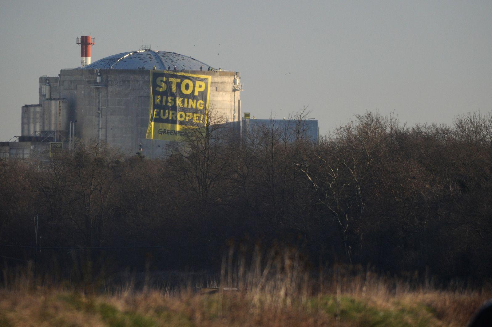 AKW Fessenheim / Greenpeace