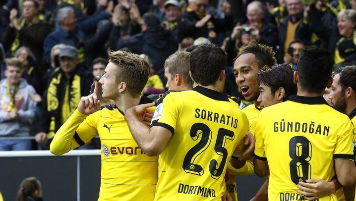Bundesliga: Reus und Aubameyang schießen FCA ab
