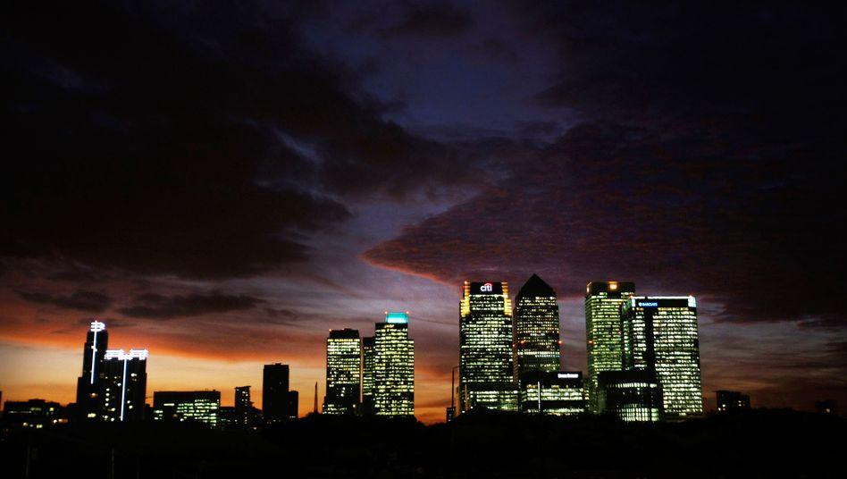 Bankenviertel in London: Mehr als drei Viertel der Top-Verdiener arbeiten in der Metropole