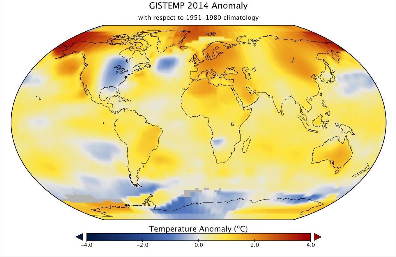 EINMALIGE VERWENDUNG Erderwärmung/ Annual Global Analysis for 2014