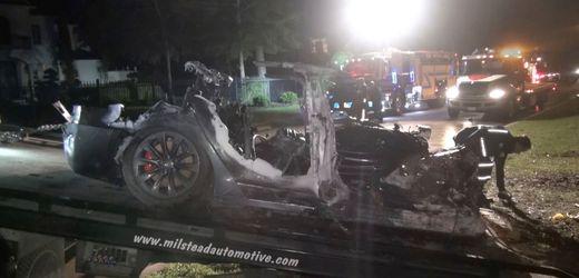 Tesla: Speicher bei rätselhaftem Crash in Texas beschädigt