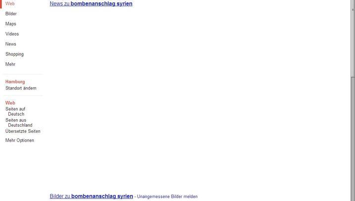 Leere Seiten: Google ohne Verlage