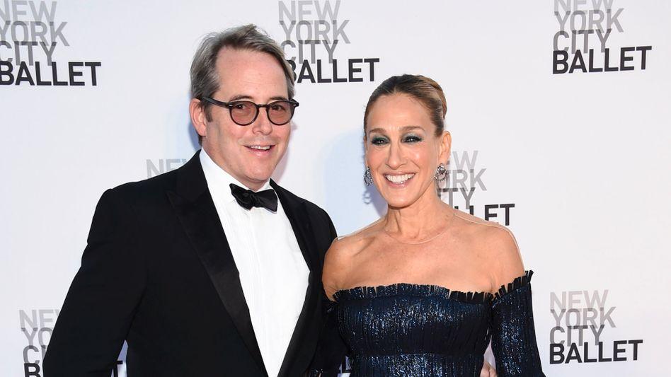 """Broderick und Parker (2017 auf einer Gala in New York): """"Schau nicht zu mir!"""""""
