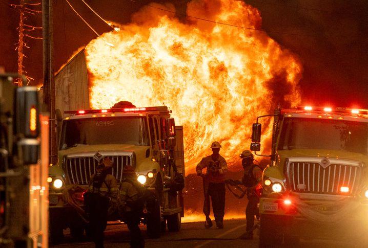 Feuerwehr im Einsatz in Greenville
