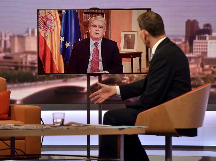 Außenminister Alfonso Dastis im BBC-Interview