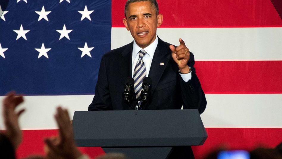 Obama bei Wahlkampfrede in Stamford: Der Präsident will den Nasa-Erfolg politisch nutzen