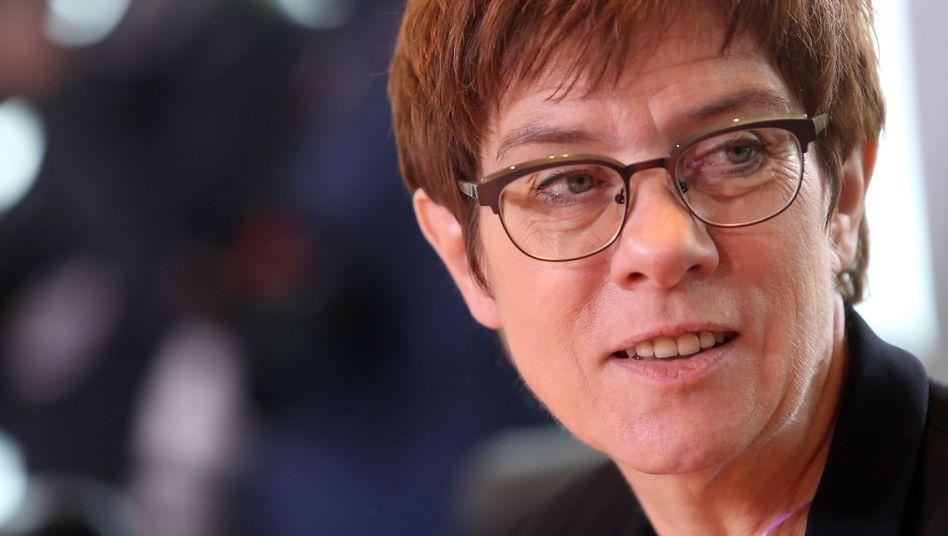 Verteidigungsministerin und CDU-Vorsitzende Annegret Kramp-Karrenbauer