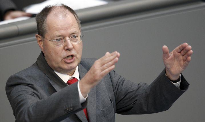 Finanzminister Steinbrück: Schwierige Debatte, wichtige Wähler