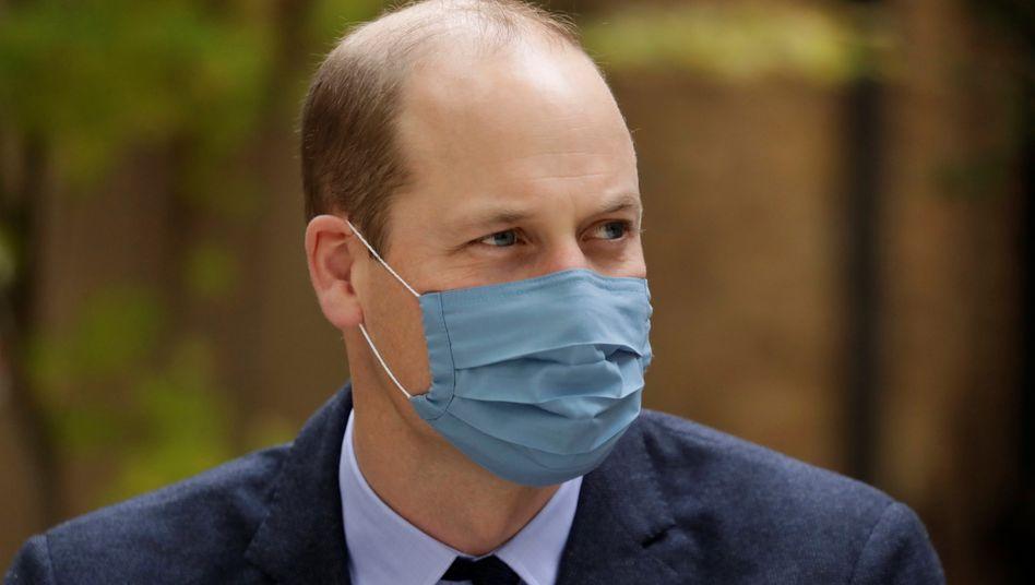 Mit Maske: Prinz William am 20. Oktober bei einem öffentlichen Termin in London