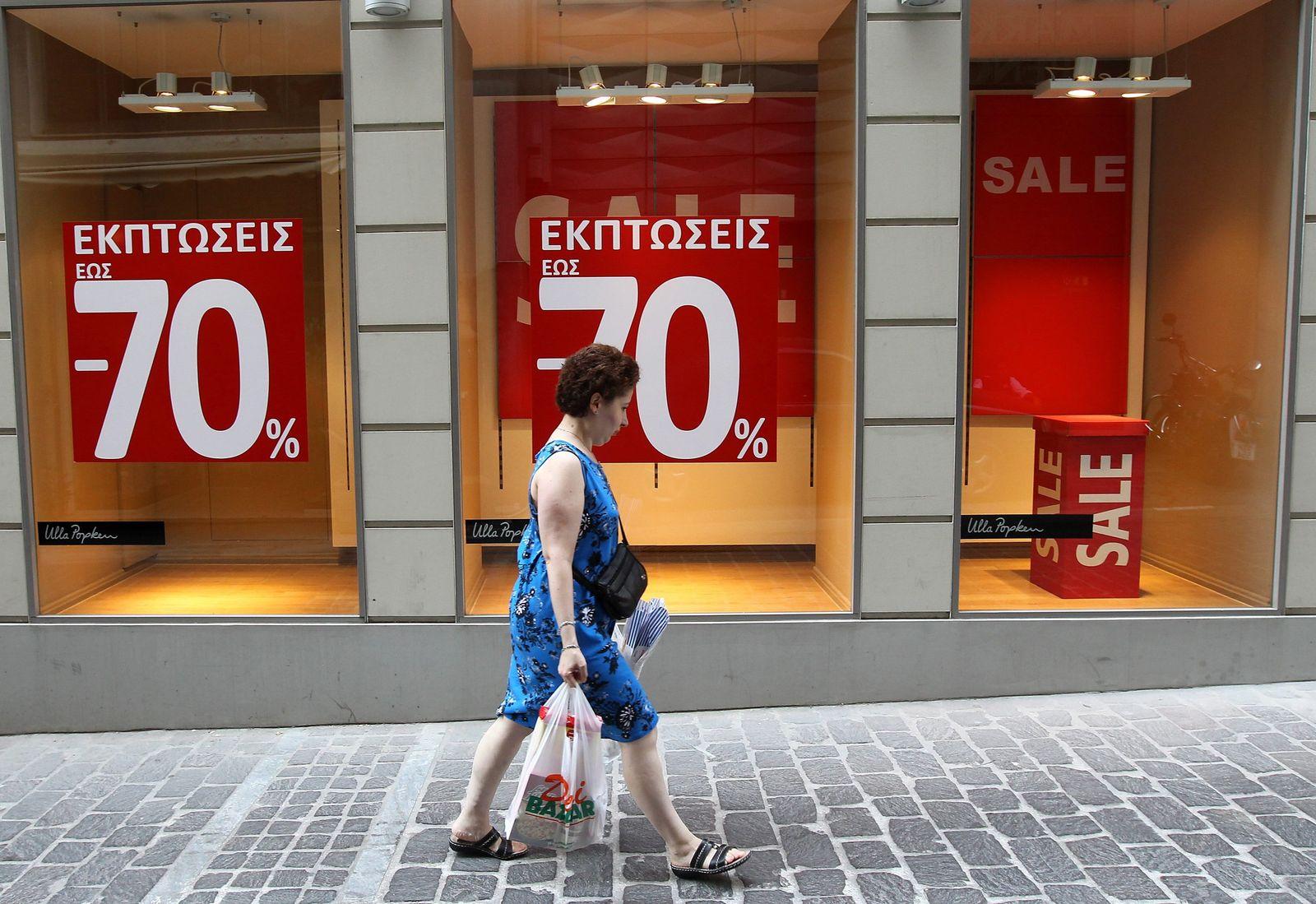 Griechenland / Geschlossene Geschäfte