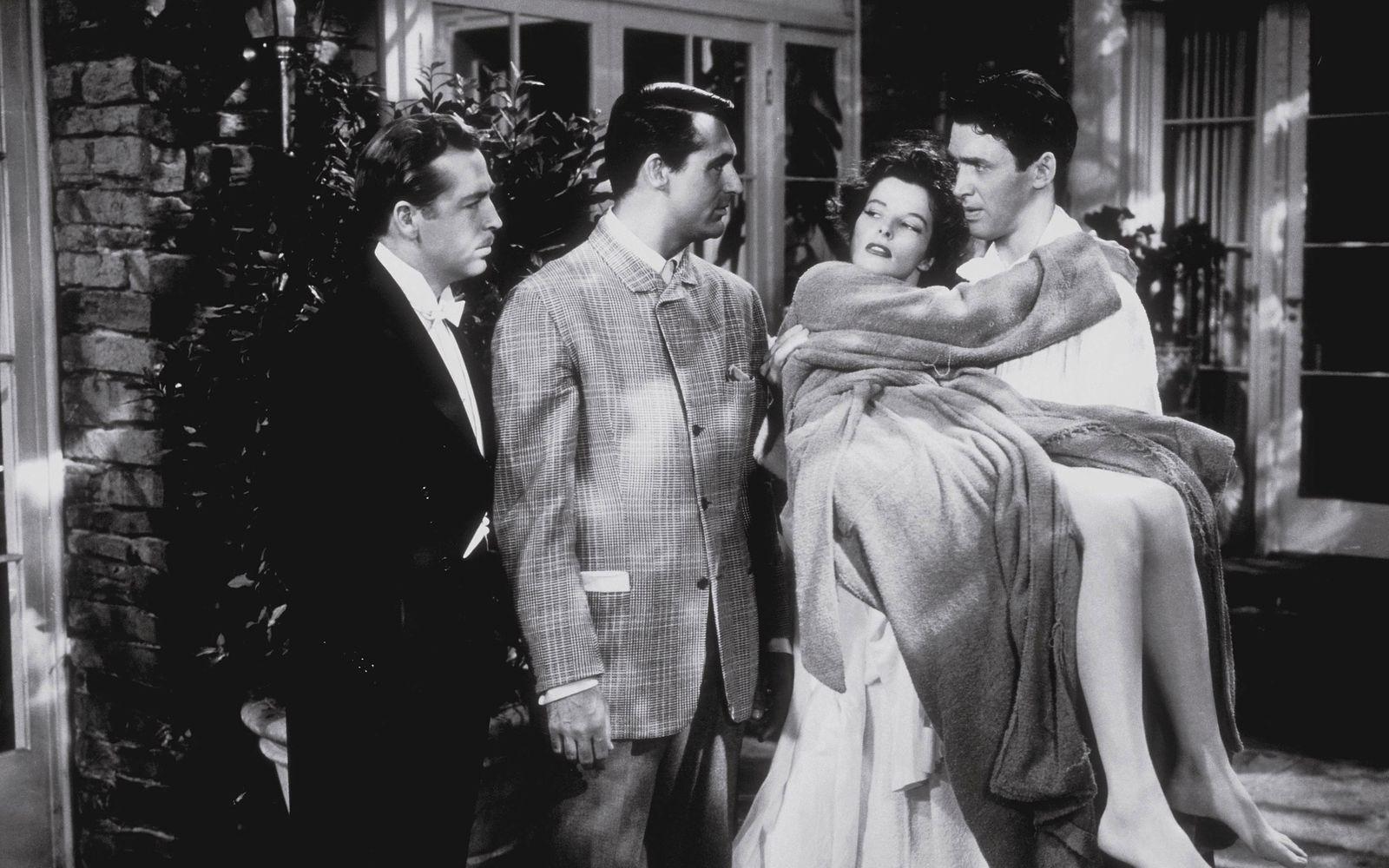 """The Philadelphia Story"" John Howard, Cary Grant, Katharine Hepburn, James Stewart 1940 MGM"