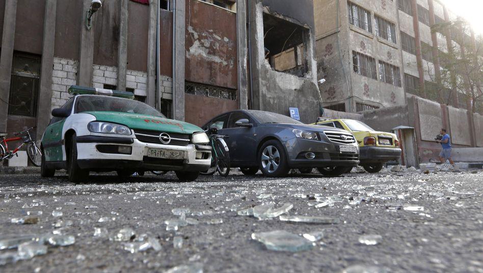 Anschlagsort in Damaskus