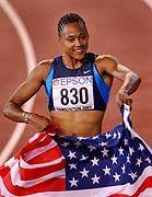 2001 wurde Marion Jones Weltmeisterin