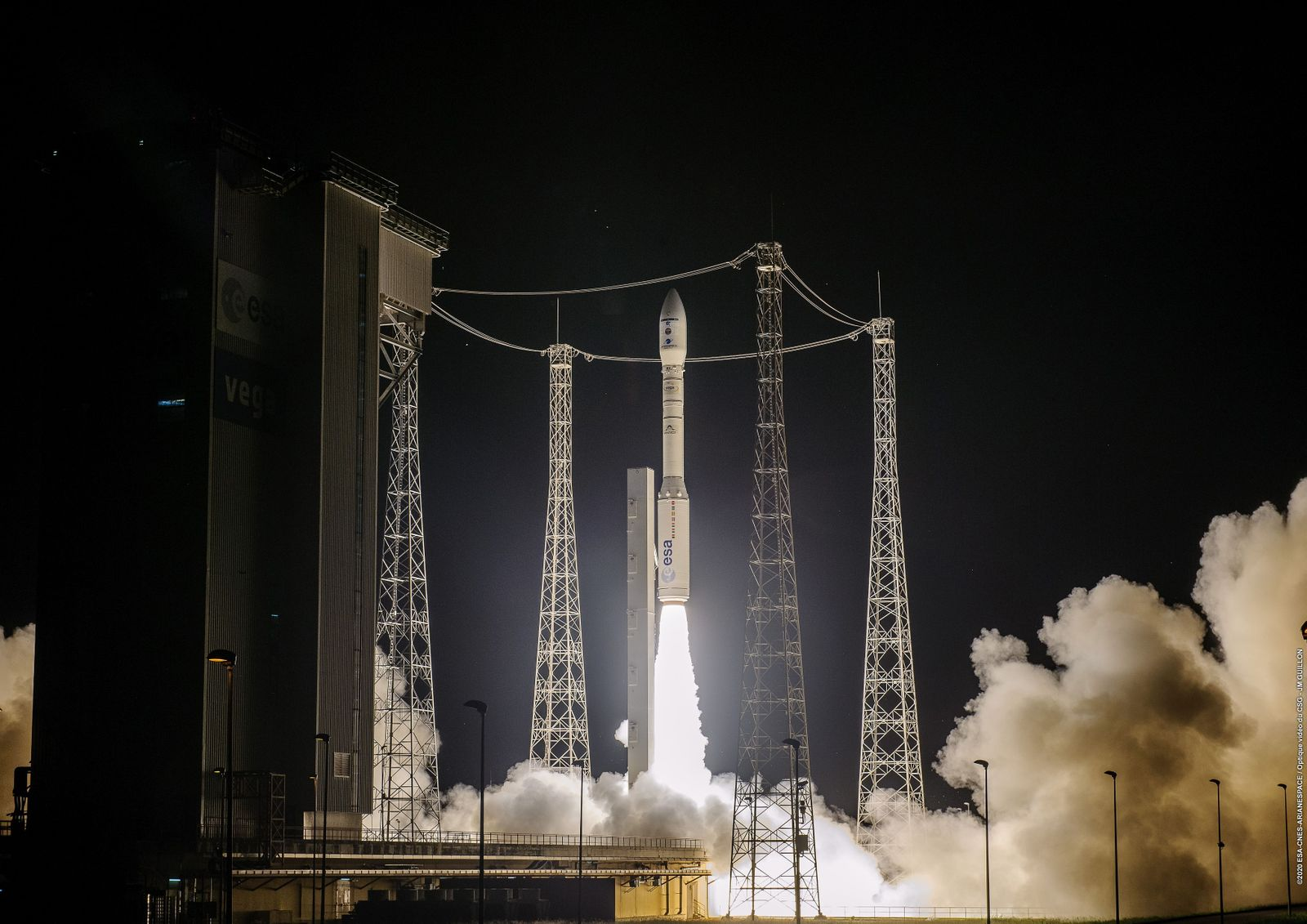 Liftoff SEOSAT-Ingenio, Kourou, French Guiana - 17 Nov 2020