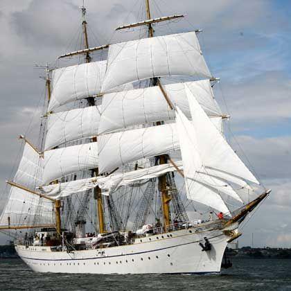 """Das Schulschiff der Bundesmarine, die """"Gorch Fock"""": """"Ruhige, stabile Schifflage"""""""