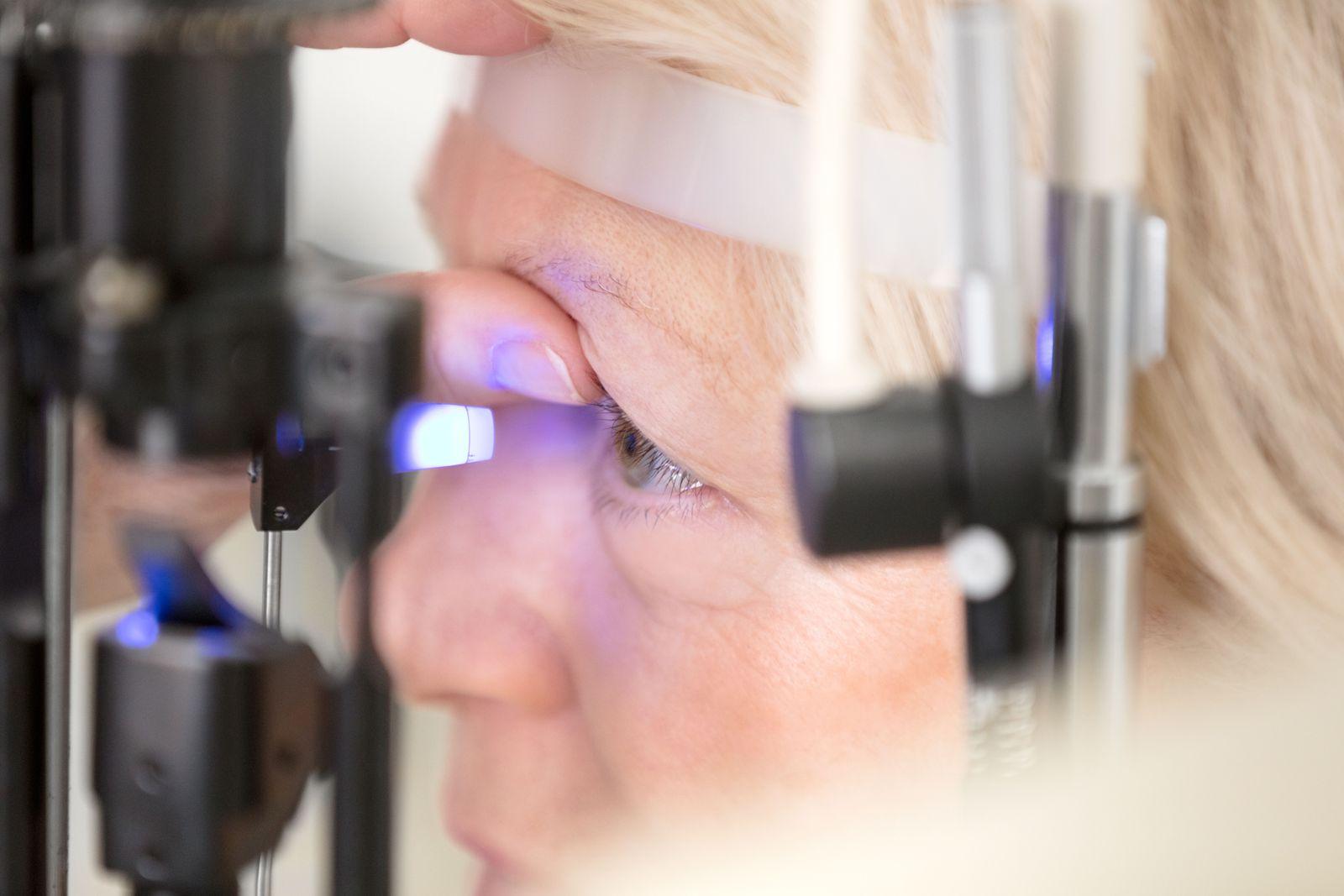 EINMALIGE VERWENDUNG Glaukom / Untersuchung