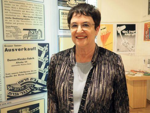 Ruthi Ofek leitet seit 30 Jahren das Jeckes-Museum in Tefen (2017)