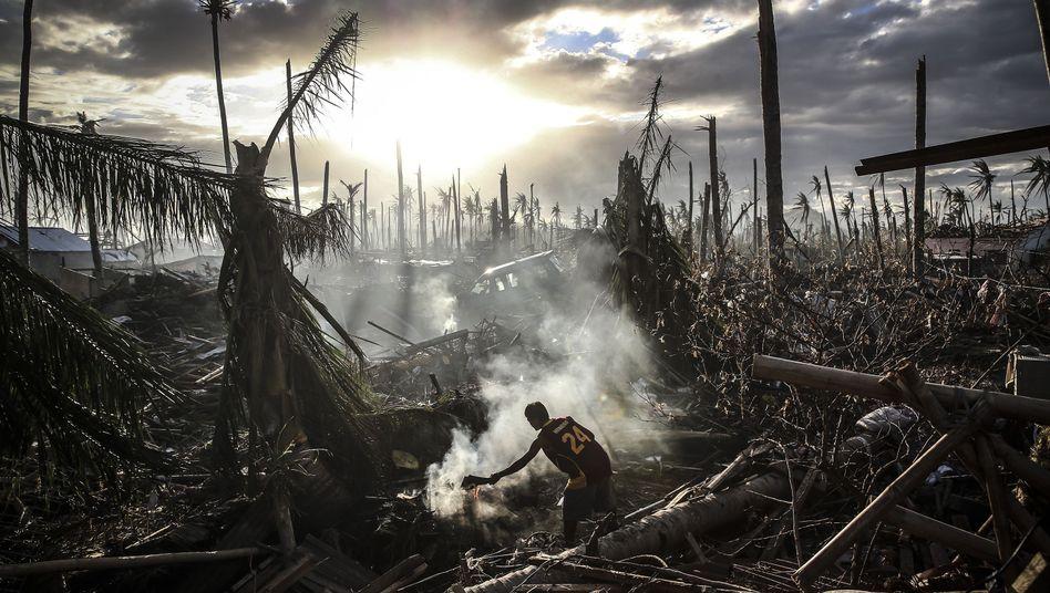 """Folgen von Taifun """"Haiyan"""": Besserer Schutz vor Wetterkatastrophen gefordert"""