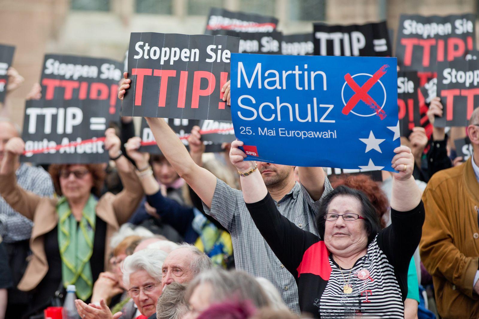 Europawahlkampf - Martin Schulz in Nürnberg