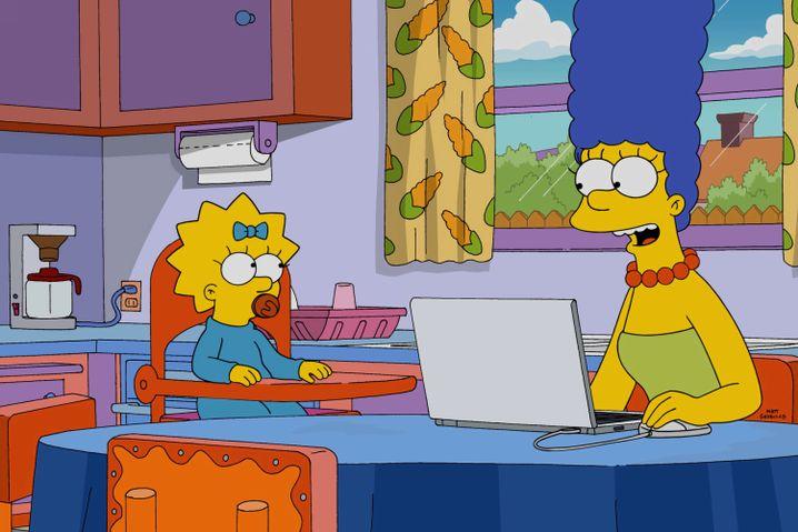 """Lisa und Marge Simpson in der Episode """"The Girl Code"""""""