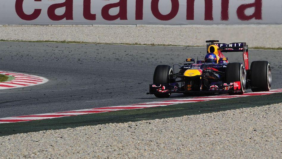 Red-Bull-Pilot Vettel: Nur Rang acht am letzten Testtag