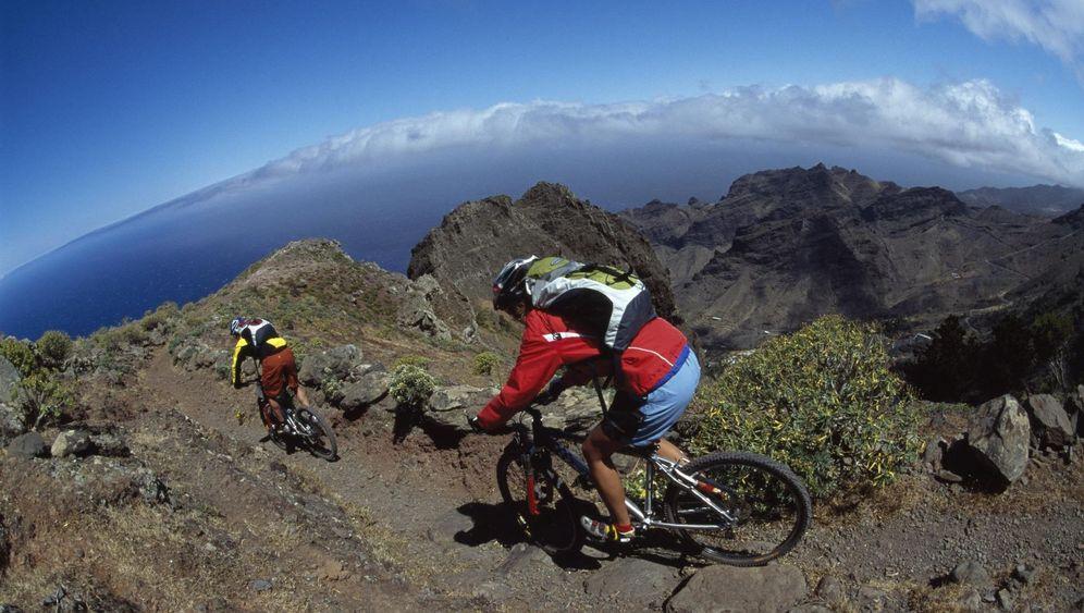 Mountainbiken auf La Gomera: Strampeln auf der Kokosmakrone