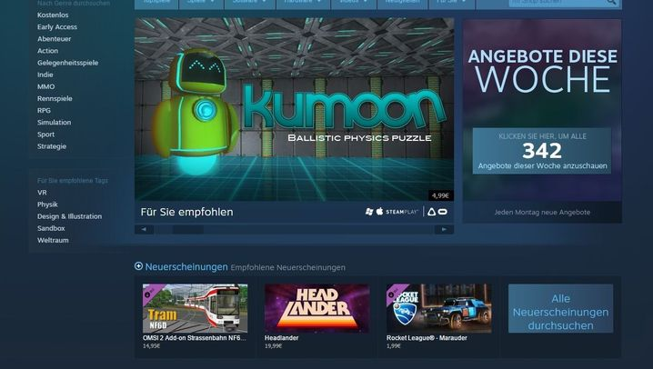Spieleplattform: Was ist eigentlich Steam?